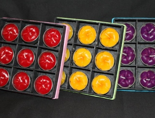 Boxed Set of 9 Tea Light Candles